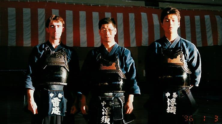 I spent a year living with my Kendo instructor in Japan (pictured on my left in this picture)