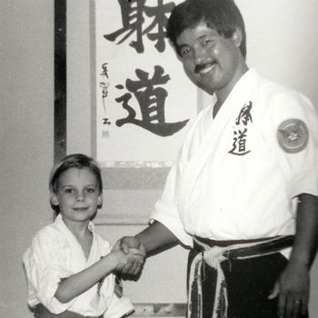 Andy with his first sensei, circa 1985
