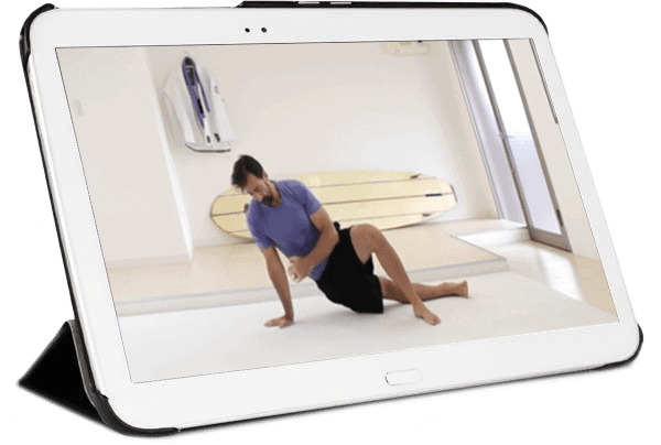 IPad showing GMB's skilled-based online exercise programs