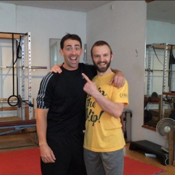 Mikey meeting Ryan at the gym