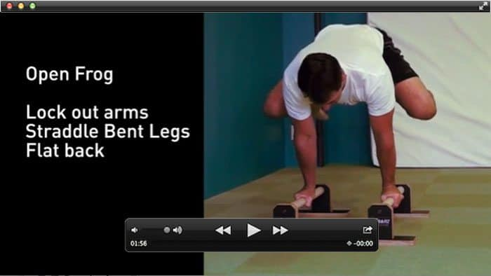 open frog exercise video