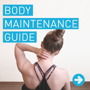 woman holds neck body maintenance guide