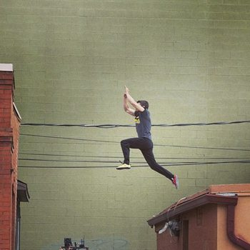 "If this sort of thing is all you associate with ""parkour"" you're missing a whole other side to this sport."