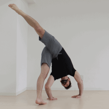 Bailing out of a handstand