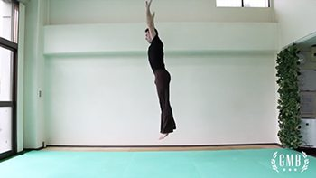 demonstrating a basic upward jump