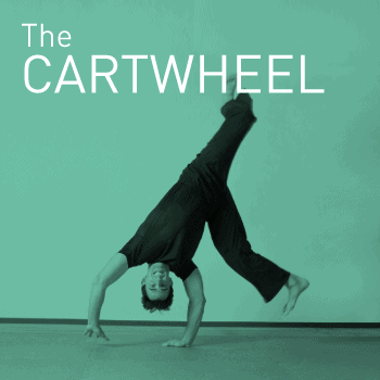 Demonstrating a cartwheel movement