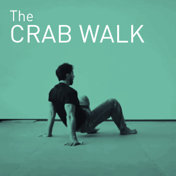 Practicing a crab walk locomotion