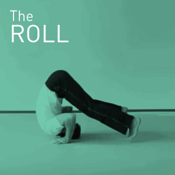 Performing a backward roll exercise