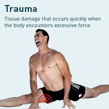 diagram of leg trauma pain