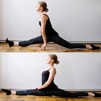 Progression of a splits technique