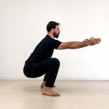 Ryan Hurst performing a squat exercise