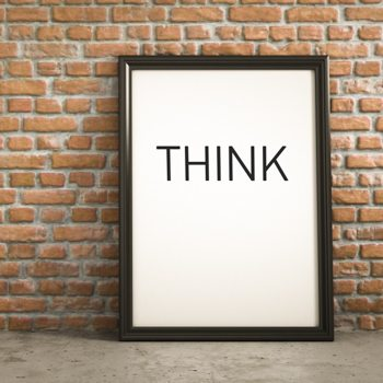 Think - mental strategy for self-knowledge