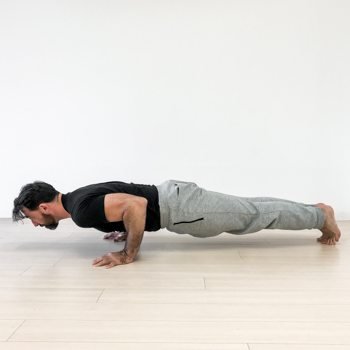 Side view push-up exercise