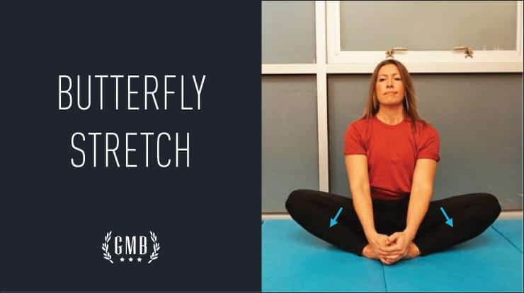 Butterfly hip stretch