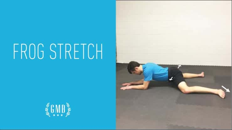 frog stretch hip exercise