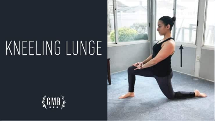 kneeling lunge for tight hips