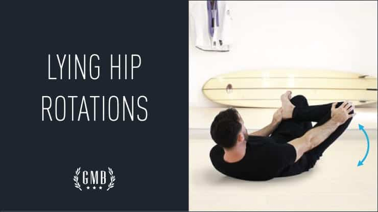 lying hip rotations stretch