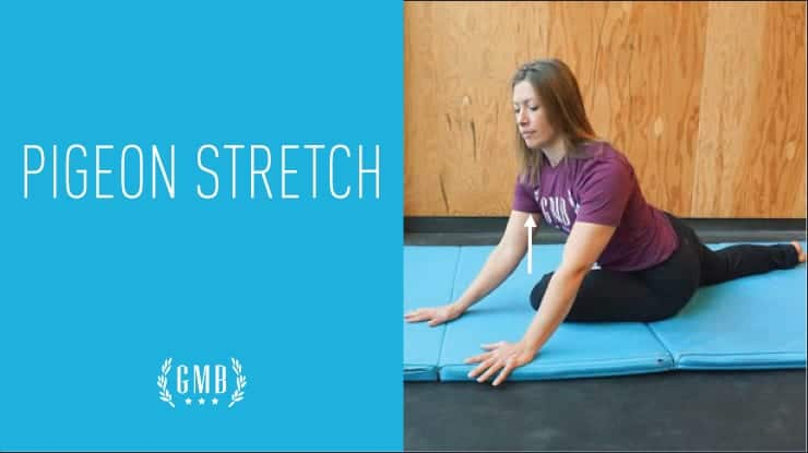 pigeon stretch hip exercise