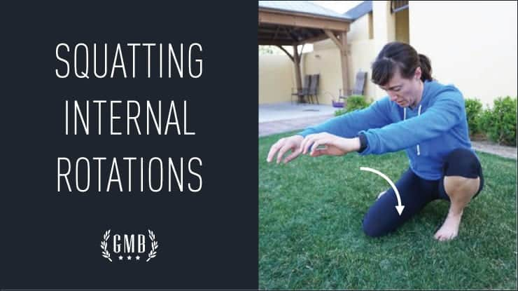squatting internal rotation stretch
