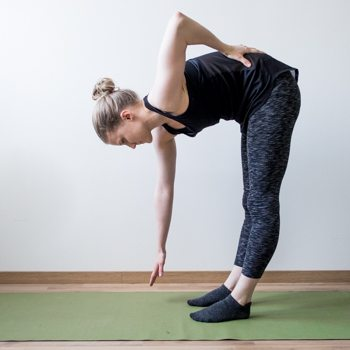 Standing pike position stretch