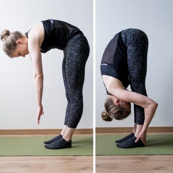 Standing forward fold stretch