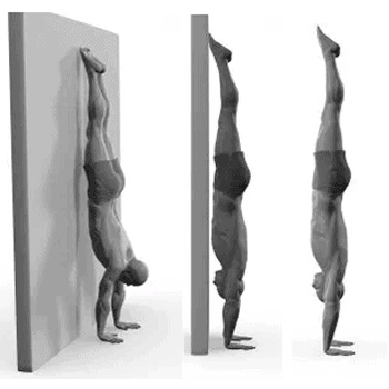 handstand progression illustration