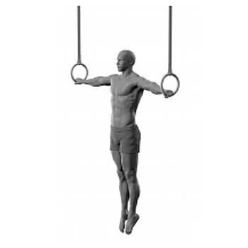 iron cross gymnastics rings illustration