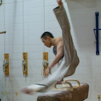 Steven Low on pommel horse