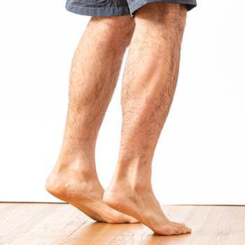 Calves ankles and feet