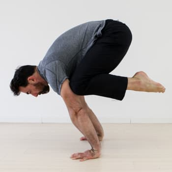 Crane pose demonstration