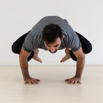 Ryan in crow pose
