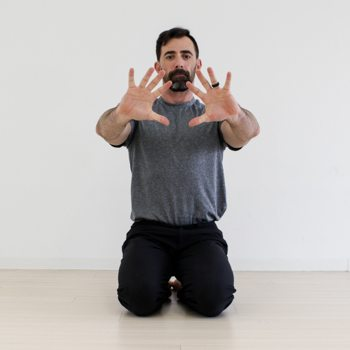 Hand placement for crow pose