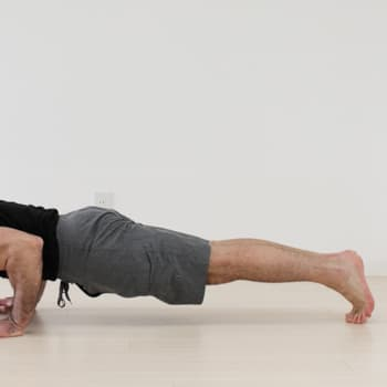 Lower body position push-up