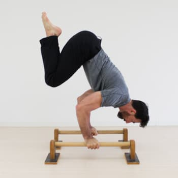 parallettes bent arm stand position