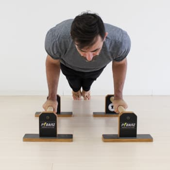 parallettes push-up arm extension