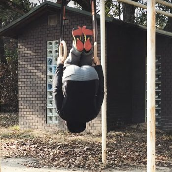 german hang jump upside down technique
