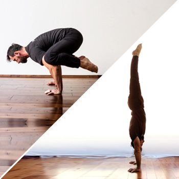 The handstand is more complex than crow pose