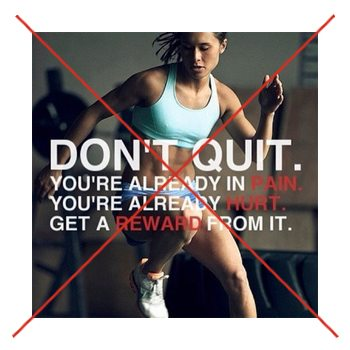 Bad advice from a fitspirational poster