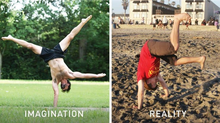 One armed handstand imagination vs reality