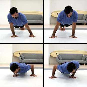 Around the world push-up