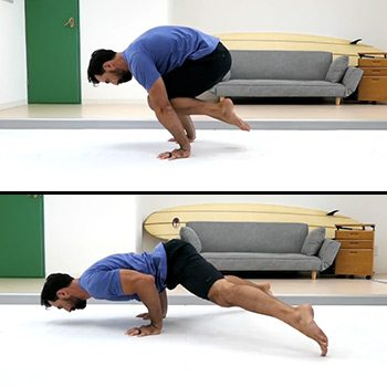 Floating push up with extension