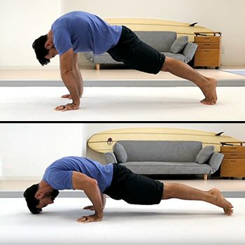 Hollow body push-up