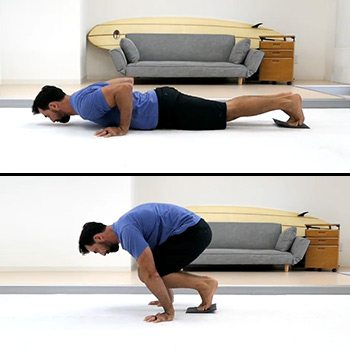 Mountain climber push-up