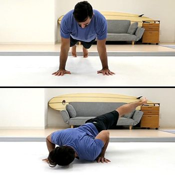 Scorpion push-up