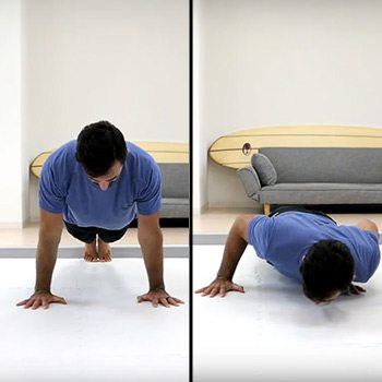 Side-to-side push-up