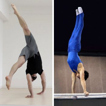 comparing a cartwheel with proper handstand technique