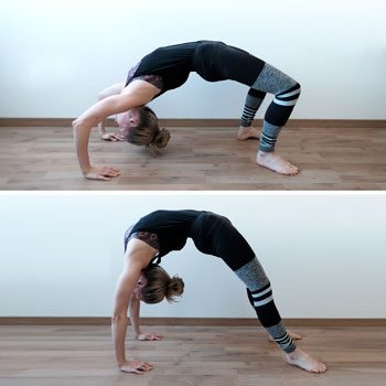 Performing a backbend with different form