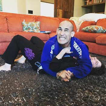 Rachel and Jarlo Practicing BJJ