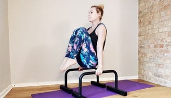 Bodyweight Tuck Hold on Parallettes