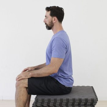 Seated neck exercises